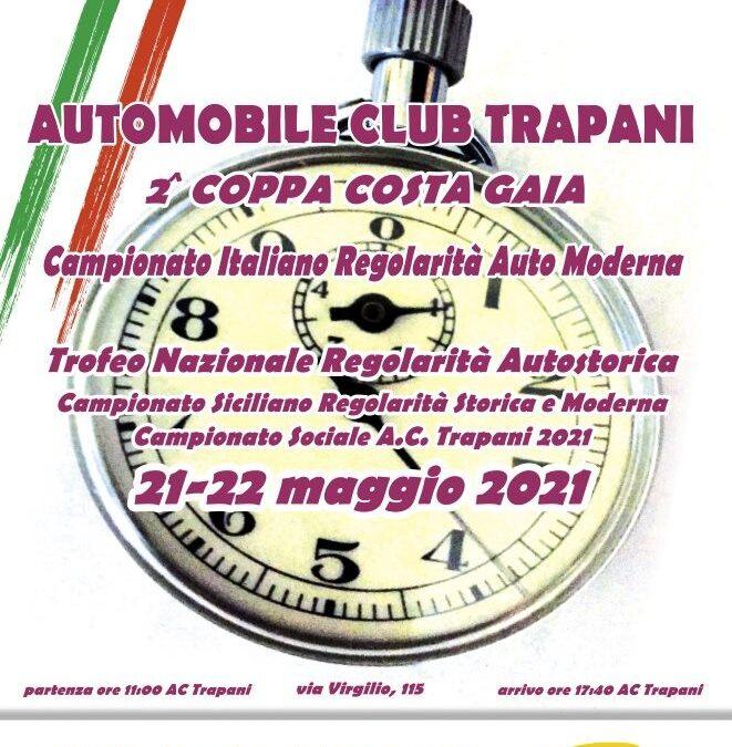 """SI CORRE IL 21 E 22 MAGGIO LA GARA """"AUTOMOBILE CLUB TRAPANI-COPPA COSTA GAIA"""""""