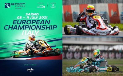 Spina e Paparo nell'Europeo Karting a Sarno.