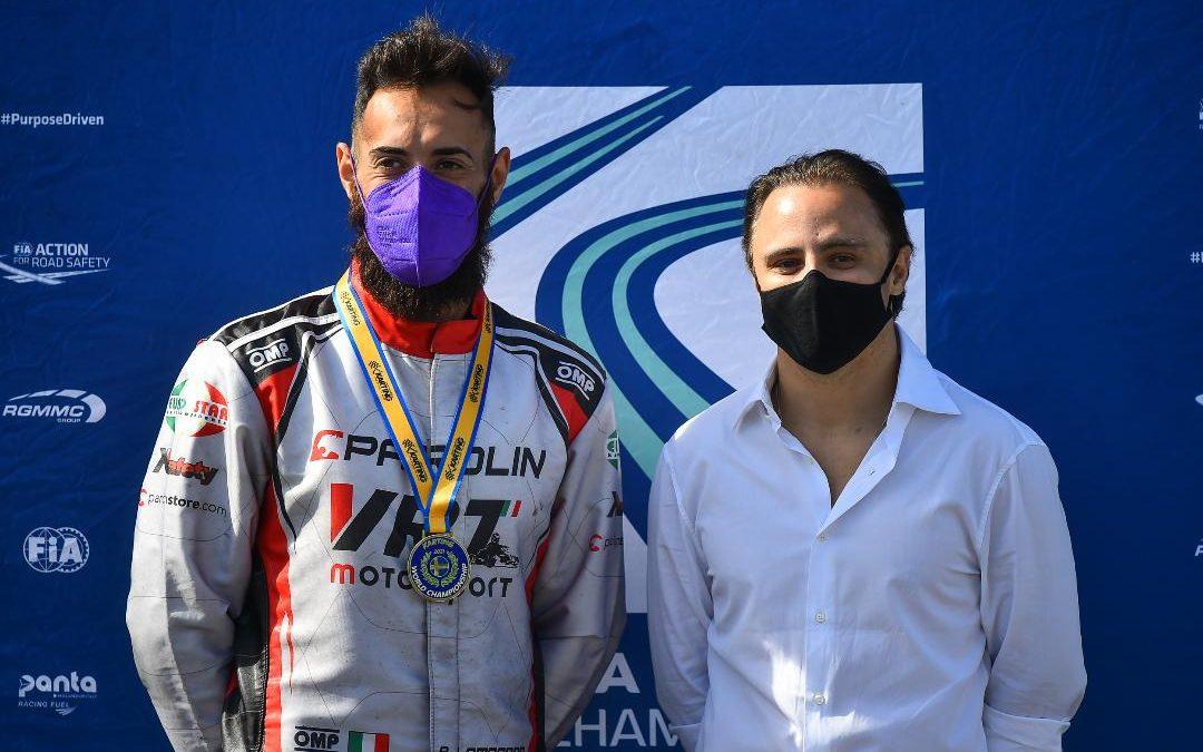 Bellissima prestazione di Lombardo nel mondiale Karting Kz2
