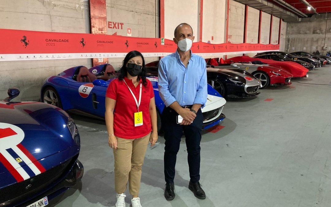 Daniele Settimo alla giornata finale del Ferrari Cavalcade